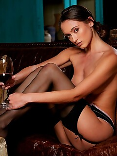Deanna Greene losing her work clothes and posing naked for playboy