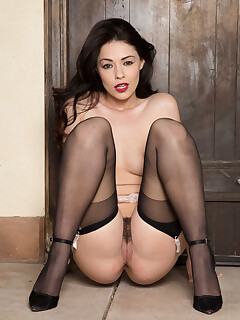 Ava Dalush sensational nudity solo play in her adorable lingerie