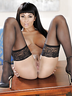 Brunette Anissa Kate Anissa Kate is showing her big natural boobies