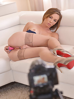 Beauty with a Brain - Toy Filled Steamy Interview  free photos and videos on DDFNetwork.com