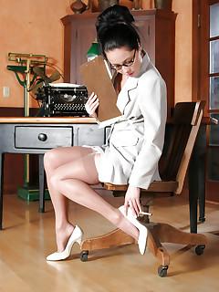 Beautiful softcore secretary