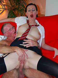 Jim Slip - UK Street Slut: Lara & grandpa