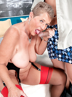 60 Plus MILFs - One For The Bucket List - Joanne Price and Juan Largo (45 Photos)