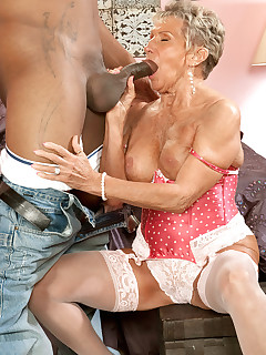 60 Plus MILFs - Big, Black Cock For A 70Something MILF! - Sandra Ann and Lucas Stone (38 Photos)
