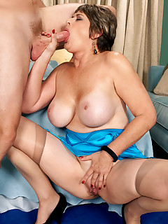 50 Plus MILFs - First Fuck! 57-Year-Old Breaks Her Porno Cherry! - Victoria Peale and Levi Cash (46 Photos)