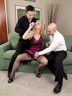 50 Plus MILFs - <b>Milena gets DP'd</b> - Milena, Georgio Black, and Neeo (79 Photos)
