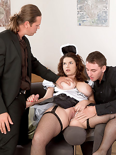 Scoreland - Tag-Team Fuck For A French Maid - Vicky Soleil, Enzo Bloom, and Tom Holland (60 Photos)