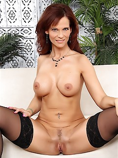 brunette milf syren demer naked woman photos fake tits trimmed pussy